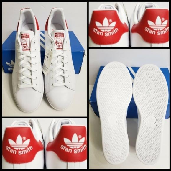 Adidas Stan Smith Red White Size10 12 US M20326 NWT